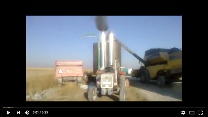 Мобилна машина за сушене на царевица